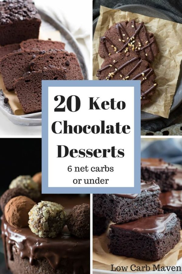 20 Decadent Chocolate Keto Desserts Under 6 Net Carbs Low Carb Maven