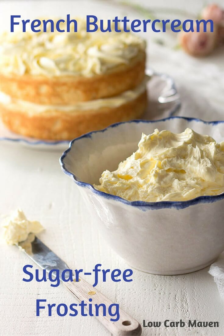 French Buttercream Sugar Free Frosting is the perfect low carb frosting for low carb keto cakes and cupcakes.