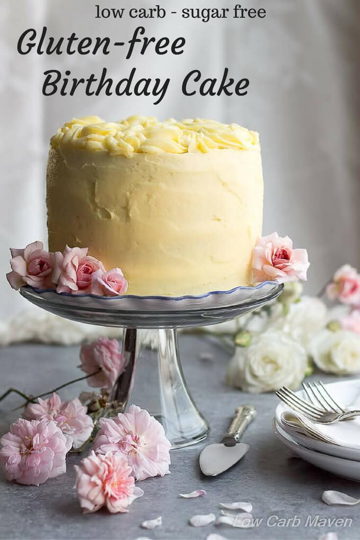 Best Gluten Free Low Carb Birthday Cake Recipe (Sugar-free)