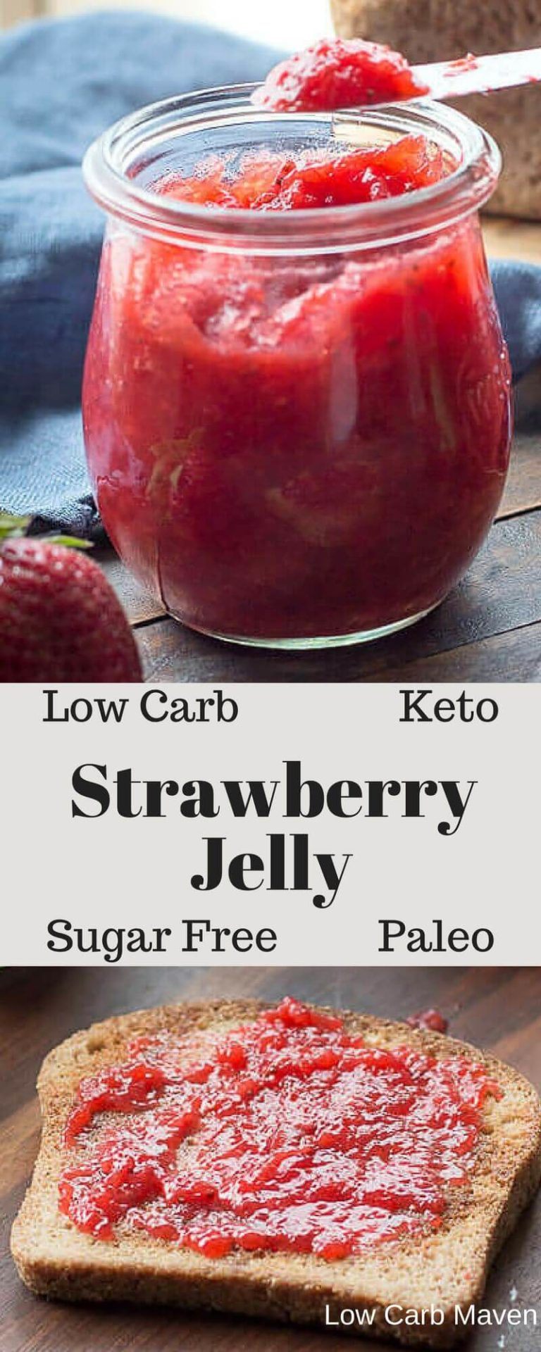 Sugar-Free Strawberry Jam (low carb, keto)