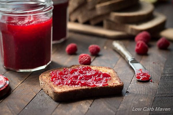 Low Carb Sugar Free Raspberry Jelly (jam) | Low Carb Maven