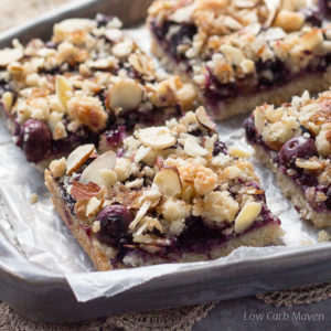 Low Carb Blueberry Crumble Bars