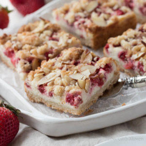 Strawberry Cream Cheese Crumble Bars