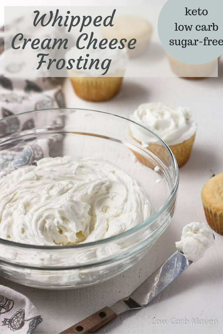 Whipped Cream Cheese Frosting (sugar-free, low carb) | Low ...