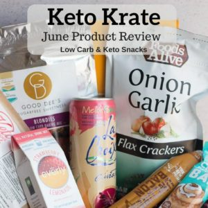 Try Keto Krate for great low carb and keto snacks, treats, drinks and ingredients.