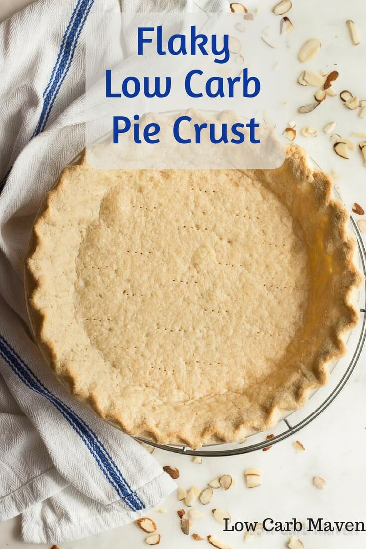 A low carb pie crust recipe with almond flour that\'s truly flaky. Perfect for low carb pies and savory quiche.