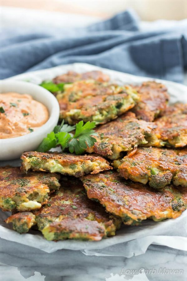 Broccoli Fritters With Cheddar Cheese Easy Low Carb Recipe