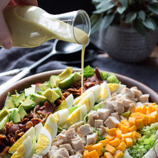 Try this low carb Cobb Salad dressing recipe on your favorite healthy salad recipes.