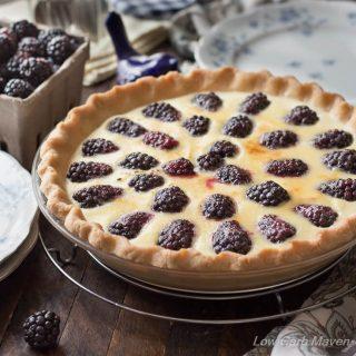 Blackberry Custard Pie - Buttermilk Custard Pie Recipe (Sugar-free, Low Carb)