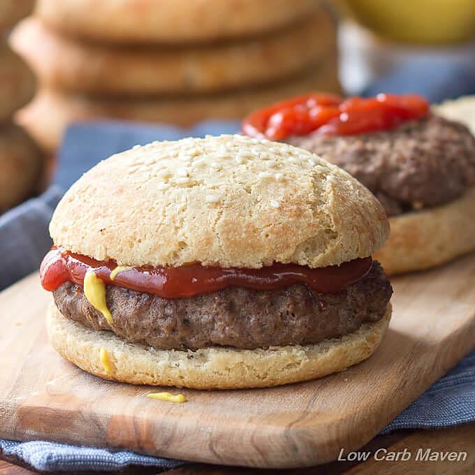 Low Carb Hamburger Buns Keto Sandwich Rolls Low Carb Maven