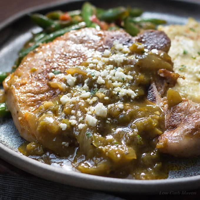 pork loin chops mexican recipe Mexican Pork Chops Recipe with (Chile) Chili Verde Sauce