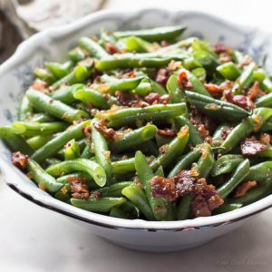Sweet and Sour German Green Beans with Bacon and Onions