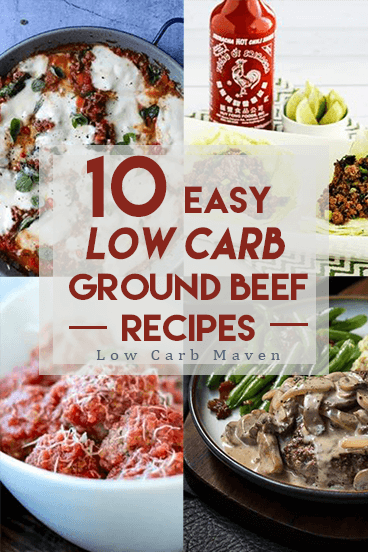 10 delicious low carb ground beef recipes the whole family will love! These beef recipes are perfect for weeknight dinners!