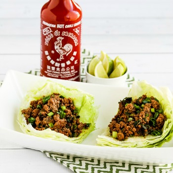 Sriracha Beef Lettuce Wraps | Low Carb Ground Beef Recipes