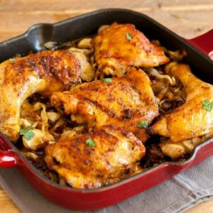 Chicken Bacon Cabbage Skillet | Keto Chicken Dinner Recipe