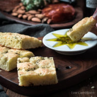Gluten free Low Carb Focaccia and Olive Oil Dipping Sauce
