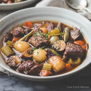 Amazing Low Carb Beef Stew (Gluten-free, Keto, Whole30)
