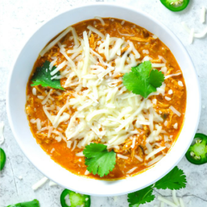 Shredded Chicken Chili | Keto Chicken Dinner Recipe - Ketogasm