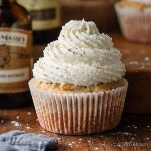 Pumpkin Spice Latte Cupcakes (Sugar Free, Low Carb)