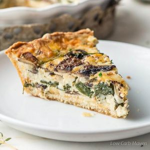 Spinach and Mushroom Quiche – Vegetable Quiche
