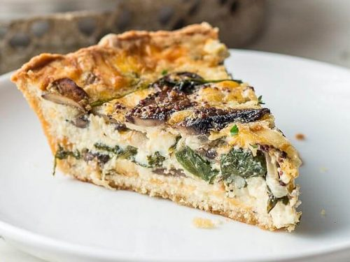 Spinach And Mushroom Quiche Vegetable Quiche Low Carb Maven