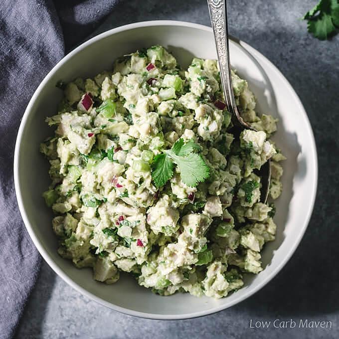Avocado Chicken Salad (Low Carb, Keto)