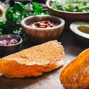 Crispy Cheese Taco Shells (Low Carb Keto Taco Shells)