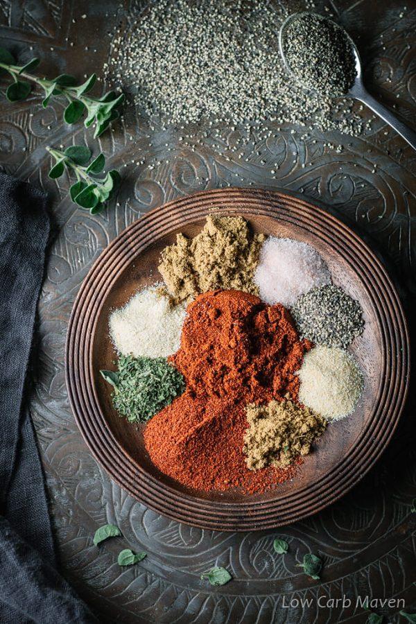 Low Carb Taco Seasoning Recipe Keto Gluten Free Low Carb Maven