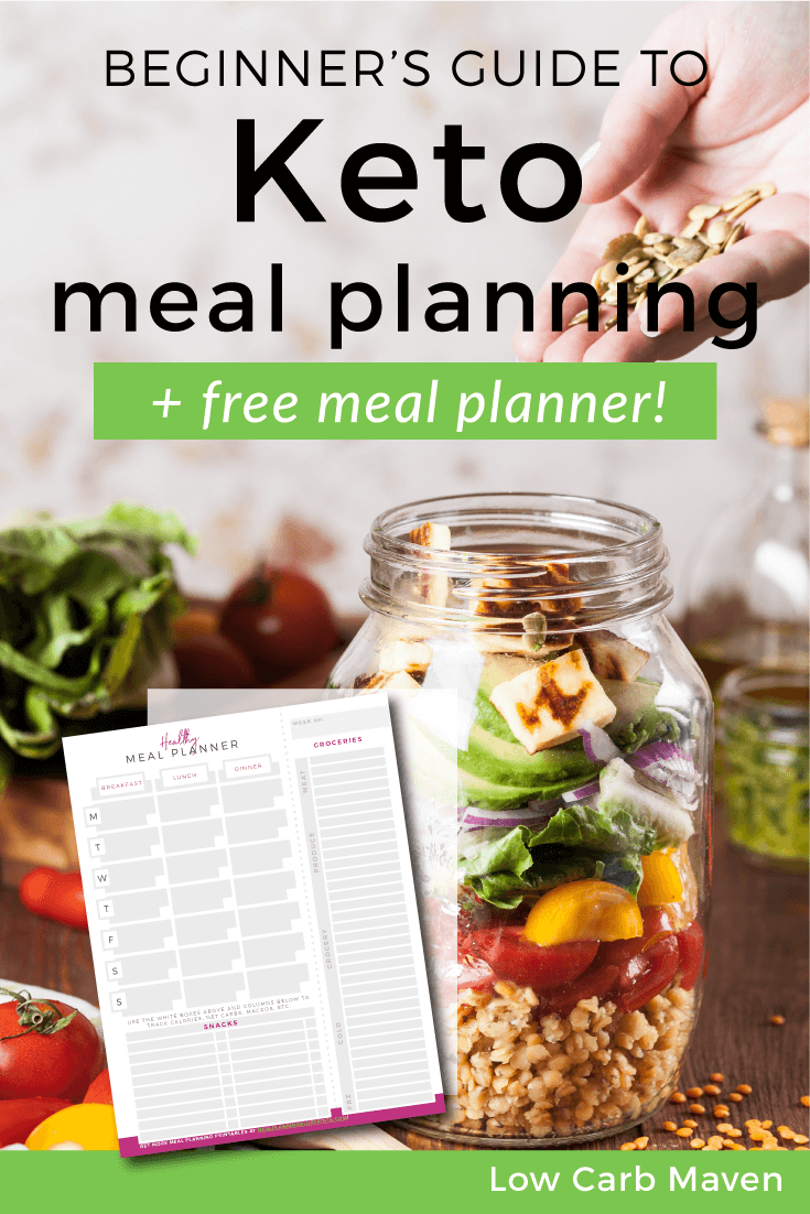 Beginner's Guide to Keto Meal Planning and free meal planner! #lowcarb #keto #mealpan