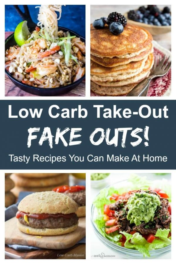 Miss take-out? Make your own low carb keto take-out at home! This roundup has something for everyone. #lowcarb #keto #indian #mexican #chinese #thai #friedchicken