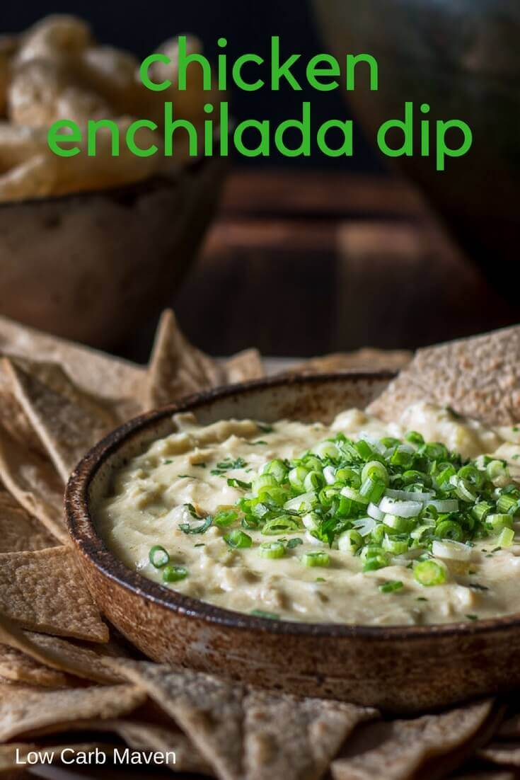 Chicken Enchilada Dip, an easy Mexican appetizer recipe for parties and gatherings. #lowcarb #keto #mexican #appetizer #recipe