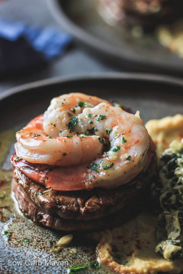 Steak And Shrimp Surf And Turf For Two Low Carb Maven