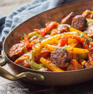 Italian Sausage Peppers and Onions with Sauce