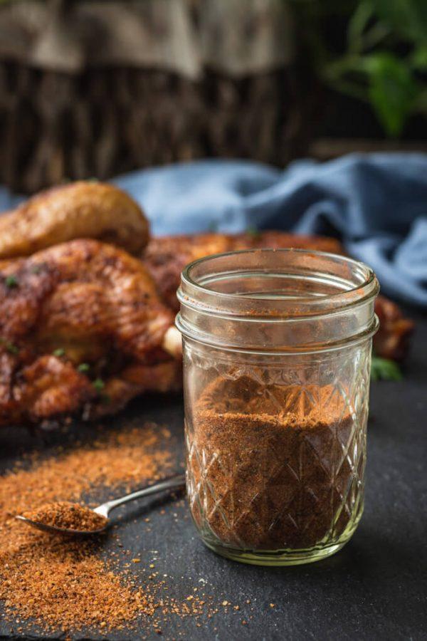BBQ Dry Rub for Chicken and Pork #dryrub #dryrubrecipes #ribs #chicken #chickenwings #pork #lowcarb #keto