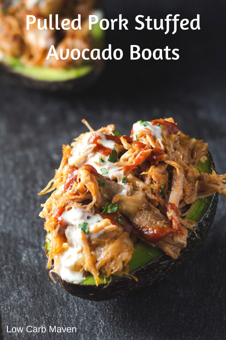 Pulled Pork Stuffed Avocado Boats Recipe (Keto)