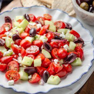 Mediterranean Cucumber Salad (tomato cucumber salad recipe)