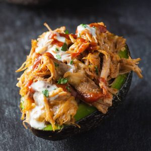 Pulled Pork Stuffed Avocado Boats