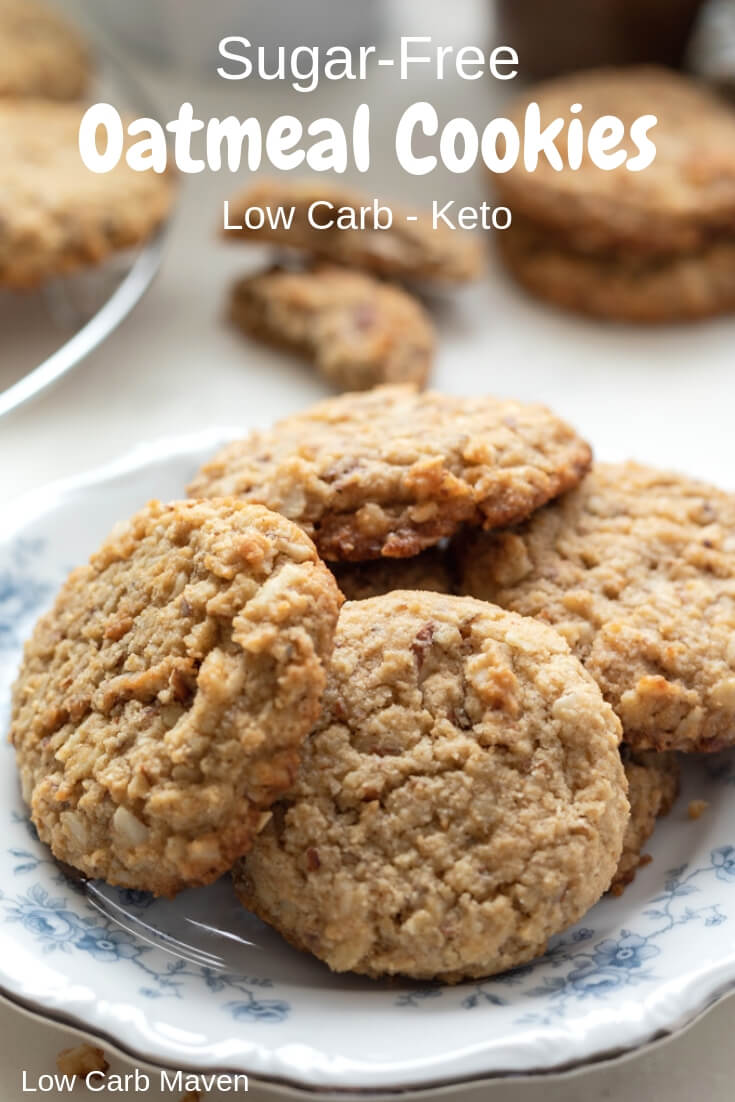 These sugar-free oatmeal cookies are perfect for your low carb keto diet!