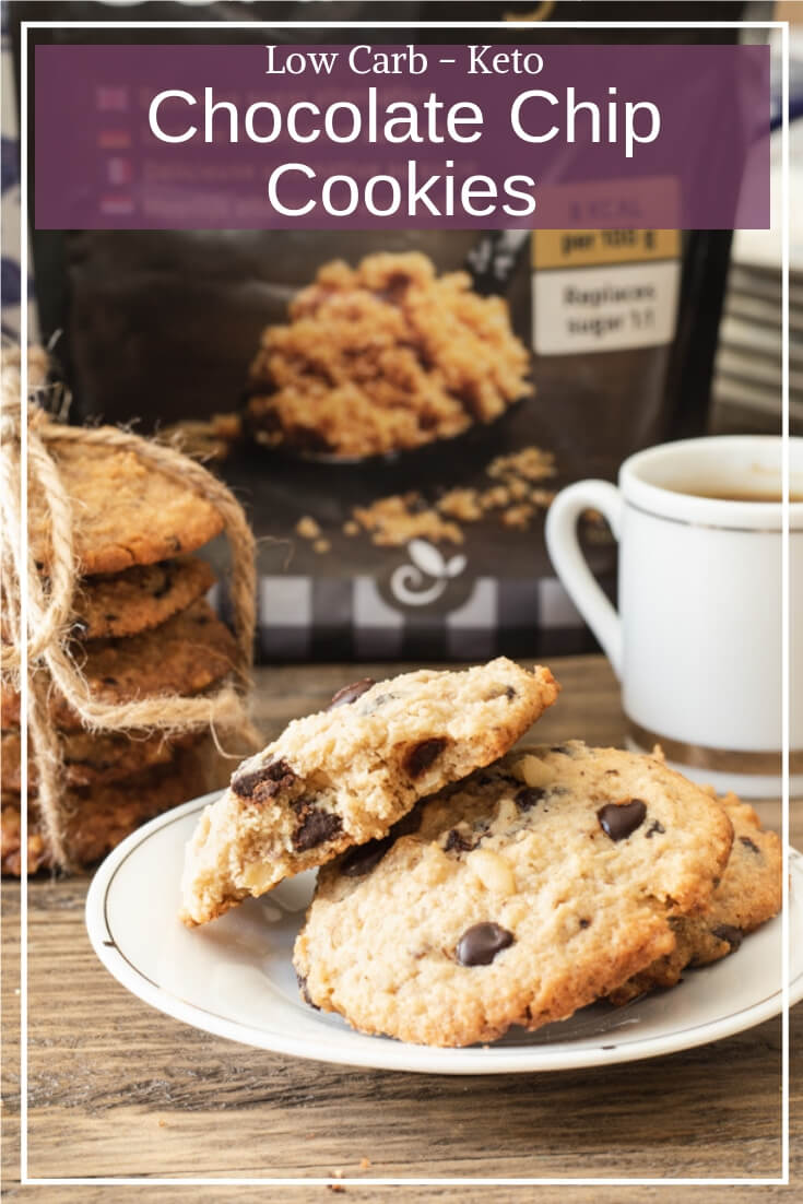 Spoil yourself with these low carb keto chocolate chip cookies! #sponsored #sukrin #keto #sugarfree #lowcarb #chocolatechipcookies #glutenfree