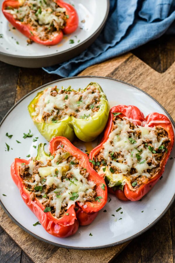 Sloppy Joe stuffed peppers. #sloppyjoestuffedpeppers #keto #sloppyjoes