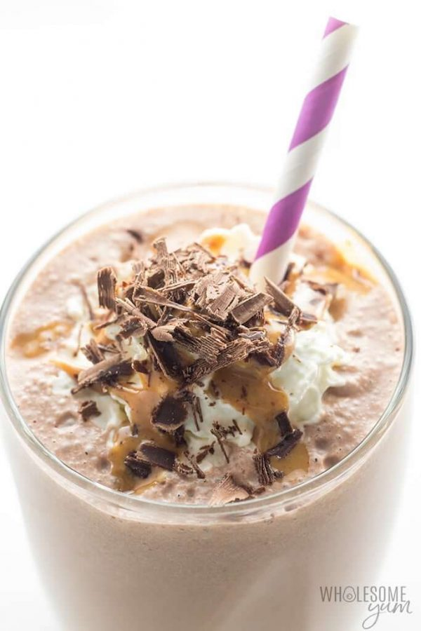 Low Carb chocolate peanut butter smoothie