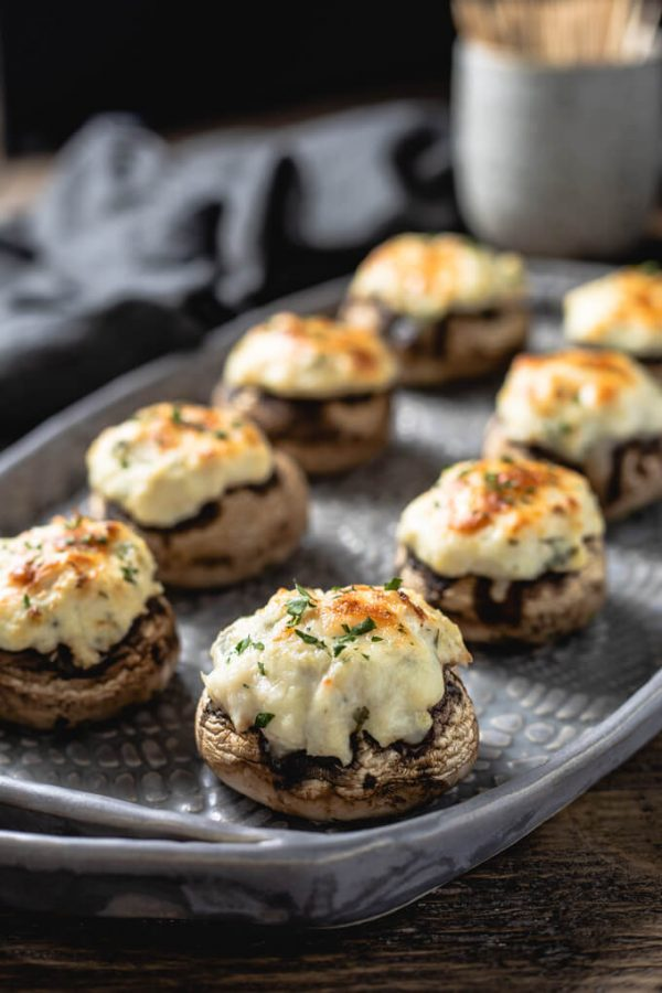 Tasty Crab Stuffed Mushrooms With Cream Cheese | Low Carb Maven
