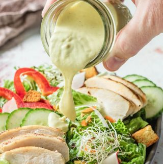 This sumptious keto honey mustard dressing is also a great dipping sauce!