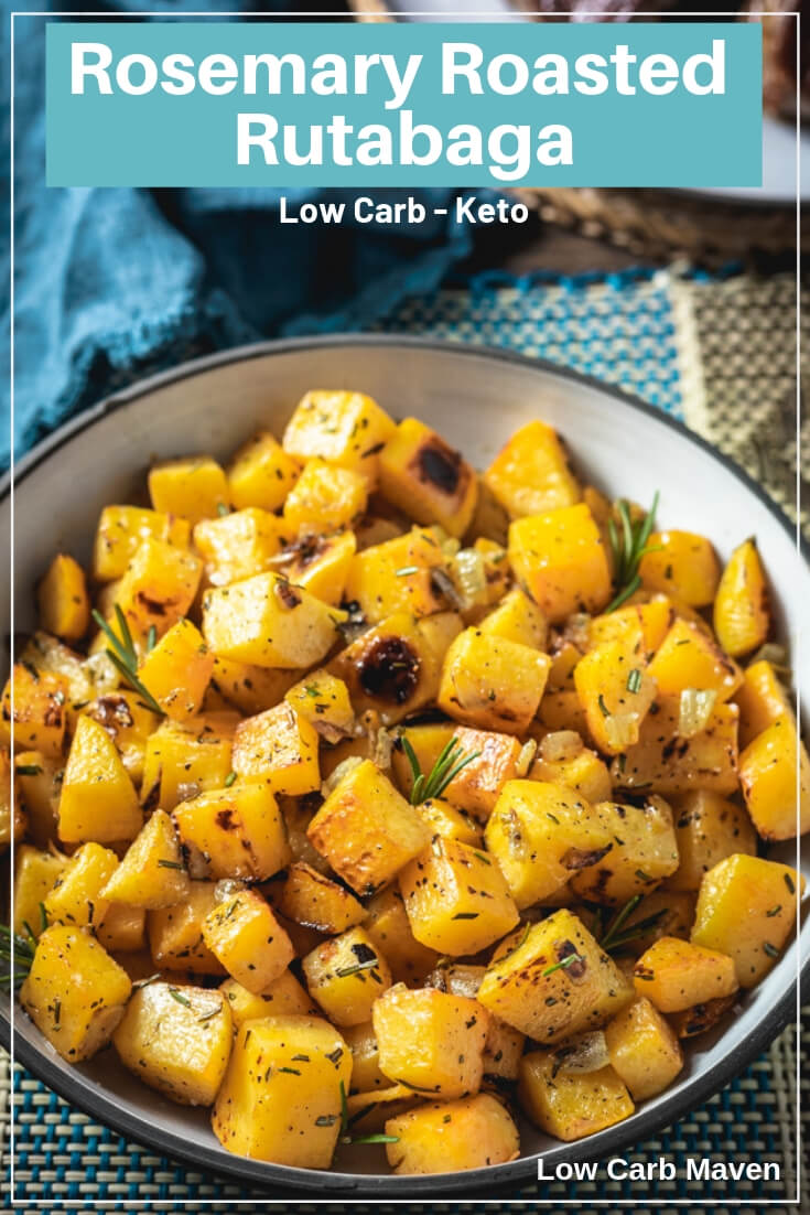 Roasted Rutabaga with Rosemary and Onions | Low Carb Maven