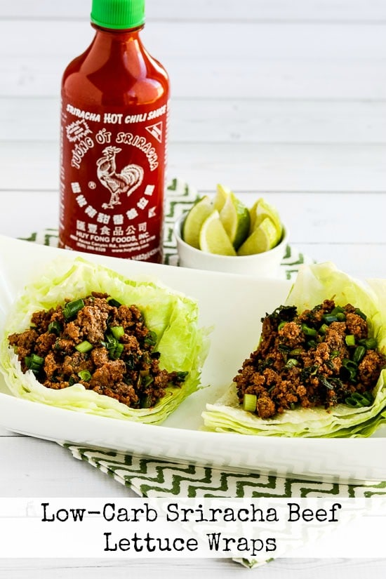 Low-Carb Sriracha Beef Lettuce Wraps - Kalyn's Kitchen
