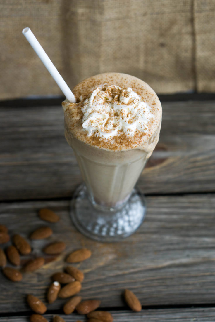 Keto Cinnamon Almond Butter Breakfast Shake