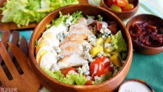 Healthy Cobb Salad Recipe with Chicken (Keto, Low Carb)