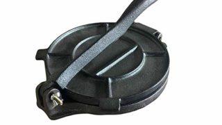 Cast Iron Tortilla Press - 8 Inch - Black