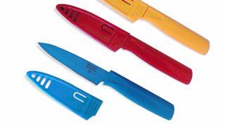 Kuhn Rikon 4-Inch Nonstick Colori Paring Knife, Set of 3