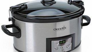 Crock-Pot 6-Quart Cook & Carry Programmable Slow Cooker with Digital Timer, Stainless Steel